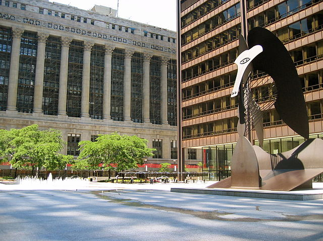 Daley plaza in chicago